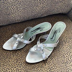 Silver Kitten Heel Sigerson Morrison Sandal